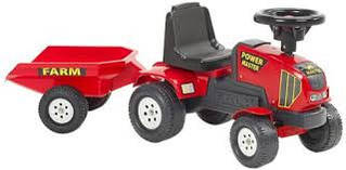Трактор каталка с прицепом Power Master Falk 1013B