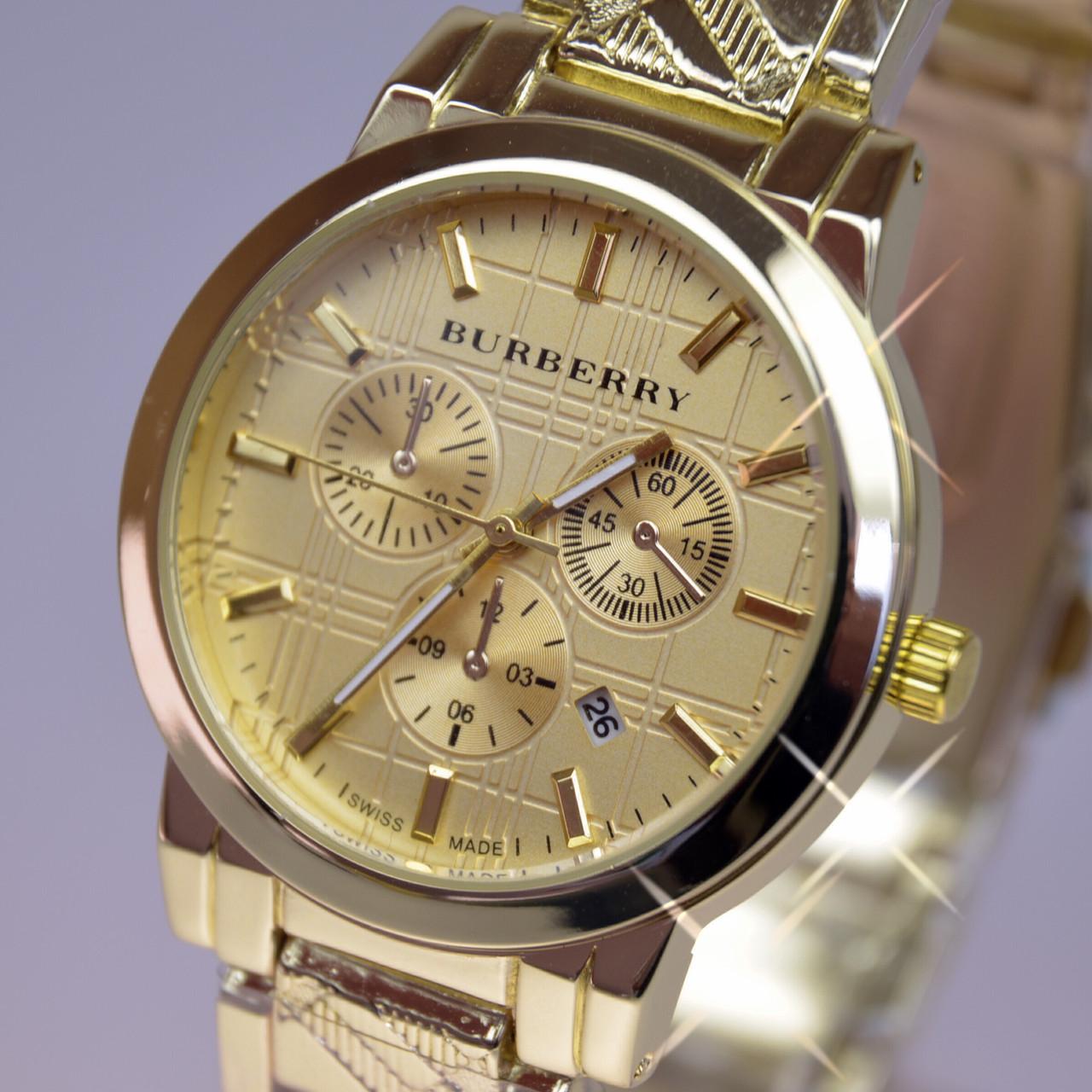 Женские часы BURBERRY Gold A66 с календарем