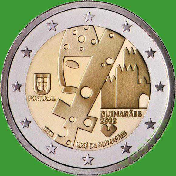 Португалия 2 евро 2012 г. Гимарайнш – культурная столица Европы. UNC