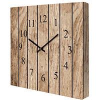 Настенные часы на холсте Доски 35х35 см (CH_P_14I008)
