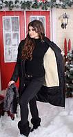 Зимнее пальто  женское на меху в норме, фото 1