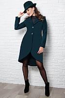 Кашемировое пальто Дориана изумрудный