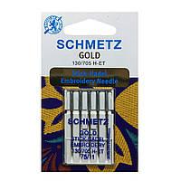 Игла для вышивания 130/705 H-ET GOLD 75 EMBROIDERY 75