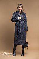 Стильное пальто женское длинное твид Estilo Diani размер:42-44,46-48