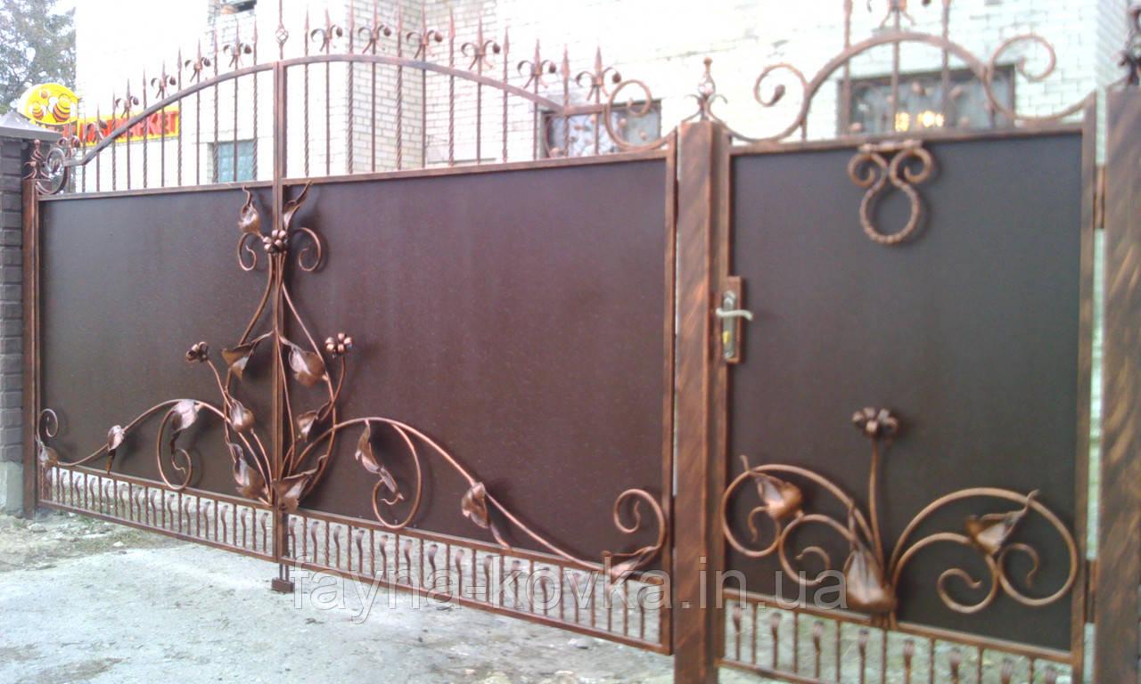 Кованные ворота 1279