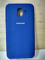 Силиконовый матовый чехол Soft Case Dark Blue Samsung Galaxy J4 2018