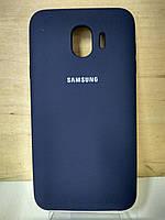 Силиконовый матовый чехол Soft Case Midnight Blue Samsung Galaxy J4 2018