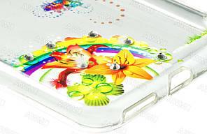 Накладка силиконовая Fashion Diamond Huawei Nova mix