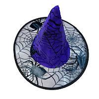 """Шляпа Ведьмы """"Паук"""" с прозрачным ободком , колпак - аксессуар для вашего образа"""