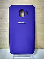 Силиконовый матовый чехол Soft Case Purple Samsung Galaxy J4 2018