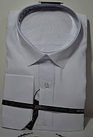 Батальная белая рубашка-великан ZERMON (размеры 3XL, 4XL)