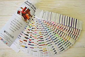 Живая карта цветов Kreinik metallic color card USA
