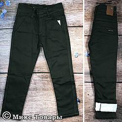 Темно зелені штани на травичці для хлопчика Розміри: 3,4,5,6,7 років (7337)