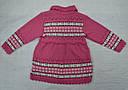 Кофта-туника вязанная для девочки розовая (Jomar, Польша), фото 5