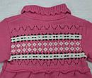 Кофта-туника вязанная для девочки розовая (Jomar, Польша), фото 6