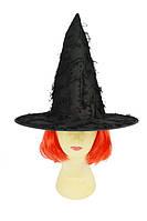 Шляпа Ведьмы с бахромой, имитация паутины - аксессуар для вашего образа