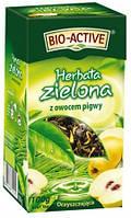 Чай зеленый листовой Big Aktiv с айвой и лепестками календулы Польша 100г