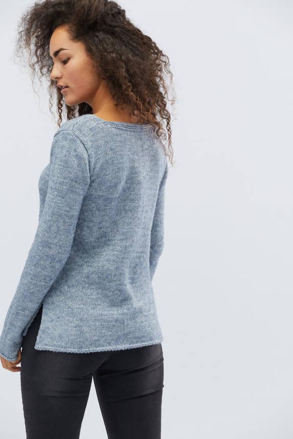 Женский трикотажный свитер голубой, фото 2