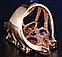 Кольцо в позолоте , цирконы Размер 18, фото 3