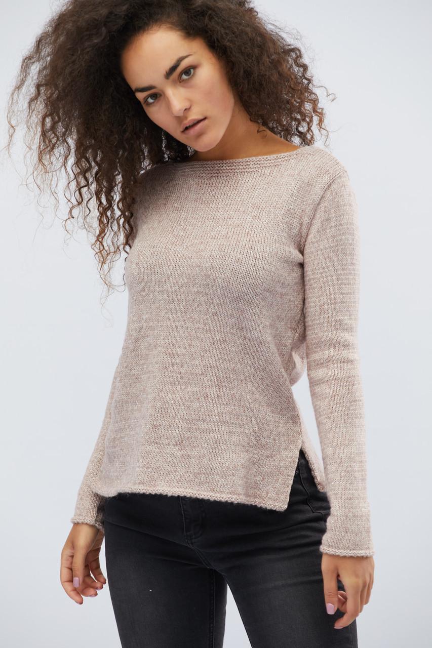 Женский трикотажный свитер пудра