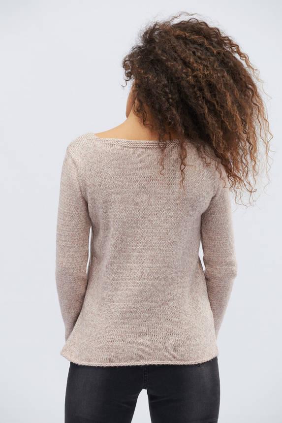 Женский трикотажный свитер пудра, фото 2
