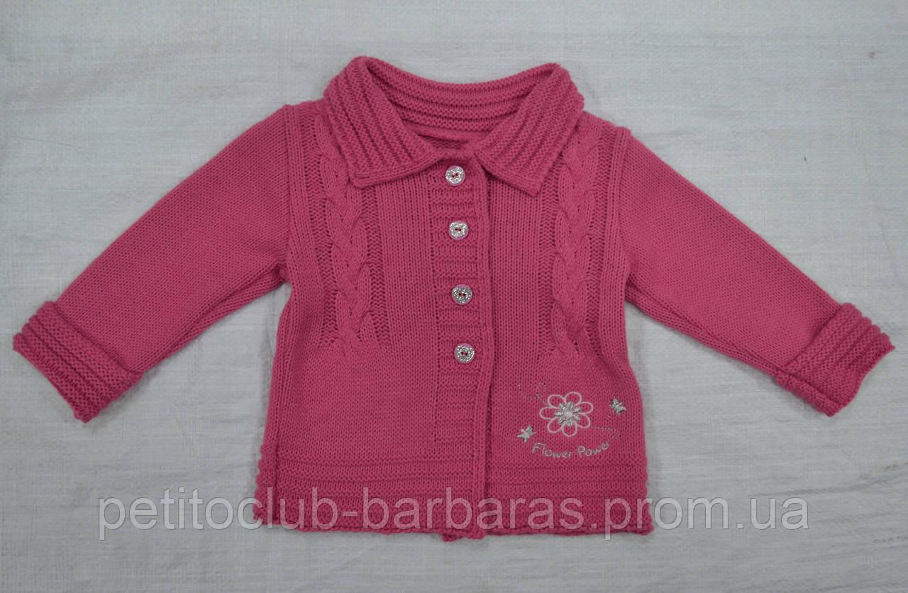 Кофта вязанная для девочки Flower Power розовая (Jomar, Польша)