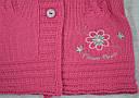 Кофта вязанная для девочки Flower Power розовая (Jomar, Польша), фото 3