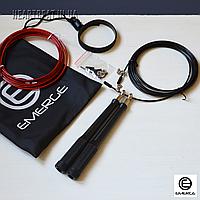 Скакалка EMERGE с алюминиевыми ручками и запасным кабелем Red