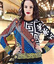 Модный свитшот с принтом размер  42-44, 46-48, фото 3