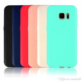 Цветной силиконовый чехол Samsung J6 Розовый