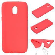 Цветной силиконовый чехол Samsung J6 Краcный