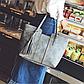 Стильная женская сумка серая эко-кожа, фото 5