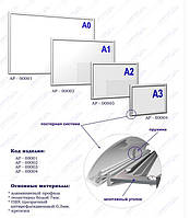 Алюминиевая рамка с клик-системой А3