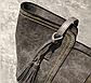 Стильная женская сумка серая эко-кожа, фото 4