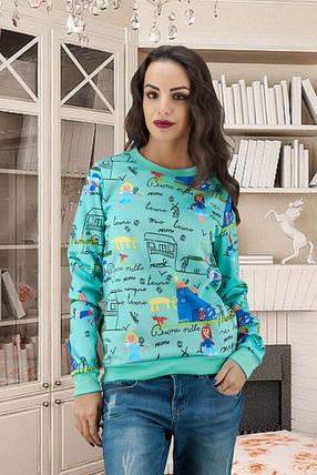 Модный свитшот с принтом размер 42-44, 46-48, фото 2