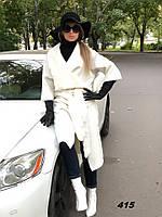 Пальто женское с запахом 415 Ем