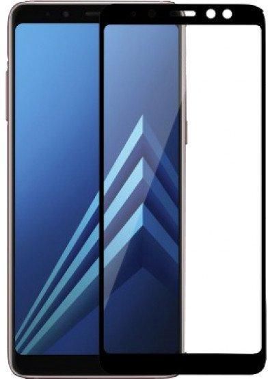 Стекло Full Glue для Samsung A8 Plus цвет Black
