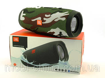 JBL Charge 3+ Squad E3+ 20W копія, портативна колонка з Bluetooth FM MP3, камуфляжна