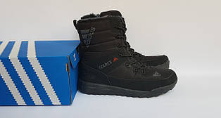 Високі жіночі зимові черевики Adidas,чорні,на хутрі 36р