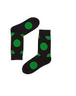 """Носки хлопковые черные """"Зелёный горох"""", фото 1"""