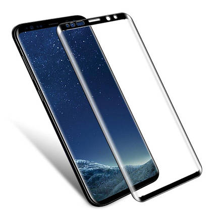 Стекло Full Coverage 3D для Samsung S9 Plus цвет Black, фото 2