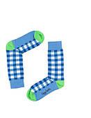 """Носки хлопковые синие """"Клетка"""""""