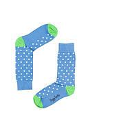 """Носки хлопковые синие """"В горошек"""", фото 1"""