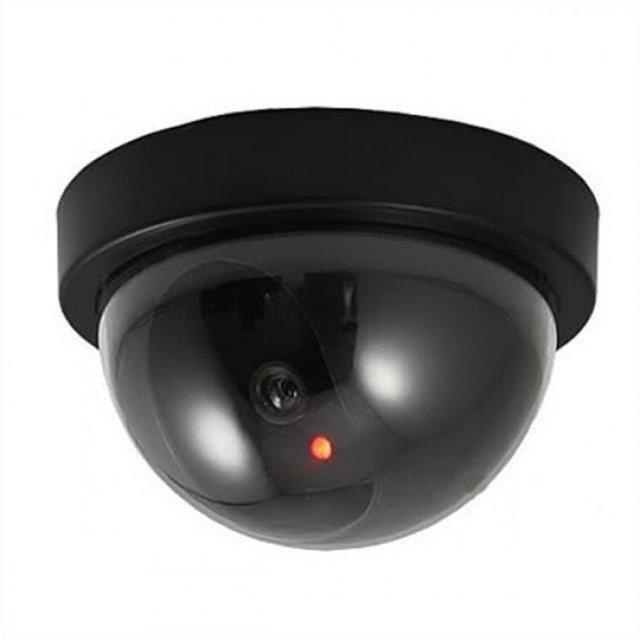 Муляж камеры видео наблюдения с мигающим диодом   Камера полусфера CAMERA DUMMY BALL 6688