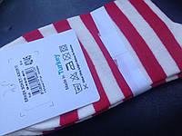 Носки хлопковые белые с красным в полоску