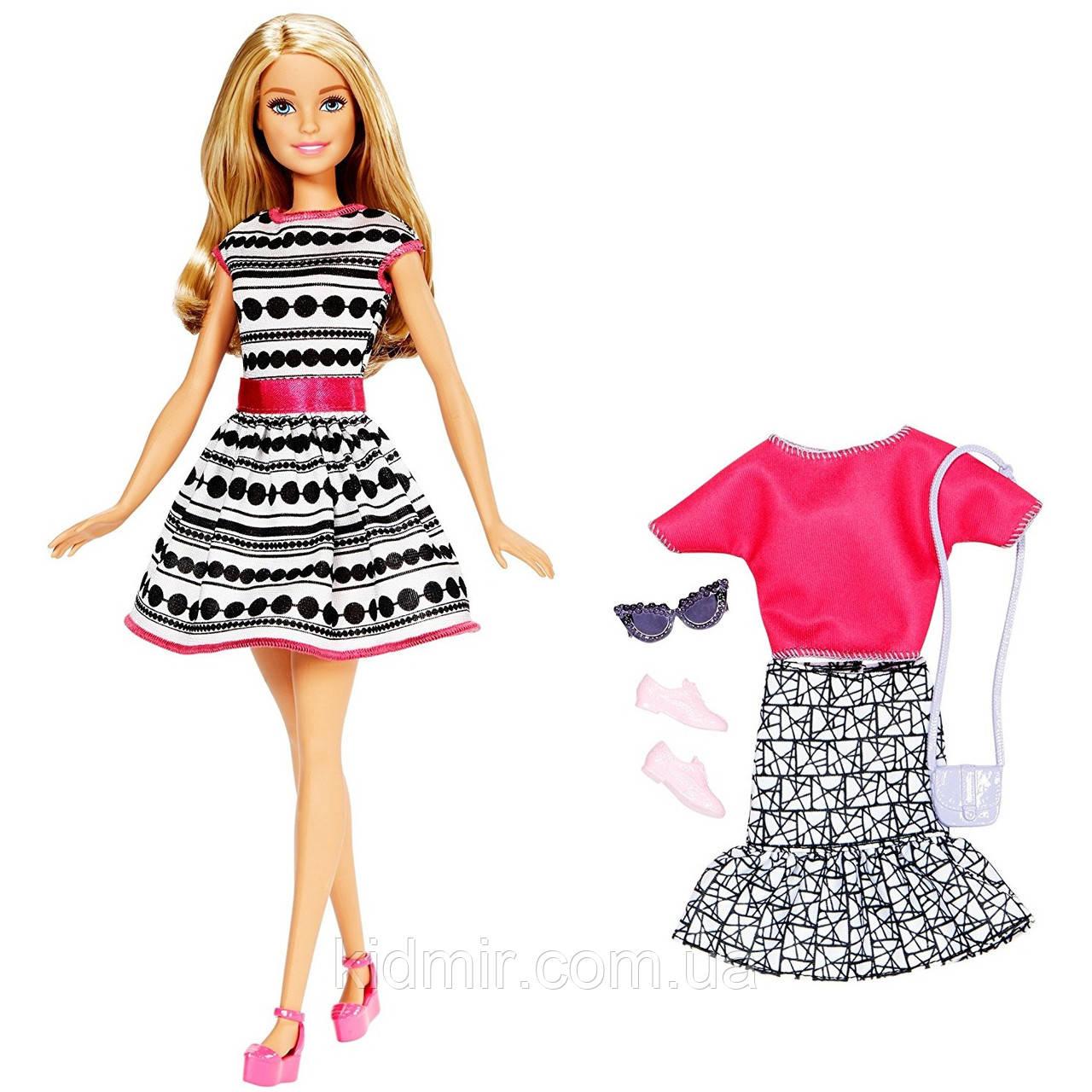 Кукла Барби Модница с одеждой и аксессуарами Barbie Fashions FFF59