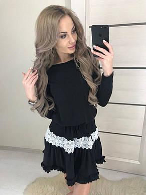 """Платье """"Татьянка"""" с длинным рукавом, чёрное, фото 2"""
