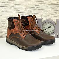 Ботинки мужские на шнуровке, натуральная кожа, фото 1