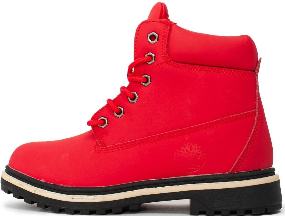 """Женские ботинки Timberland """"Red"""" (Тимберленд) с мехом"""