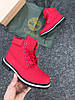 """Женские ботинки Timberland """"Red"""" (Тимберленд) с мехом, фото 3"""
